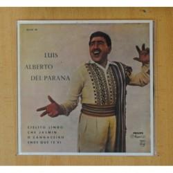 LUIS ALBERTO DEL PARANA - CIELITO LINDO + 3 - EP