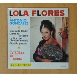 LOLA FLORES Y ANTONIO FLORES - GLORIA DE CADIZ + 3 - EP