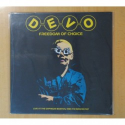 DEVO - FREEDOM OF CHOICE / LIVE AT THE ORPHEUM BOSTON - LP