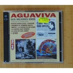 AGUAVIVA - SUS MEJORES AÑOS - 2 CD