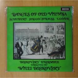 SCHUBERT / JOHANN STRAUSS / LANNER - DANCES OF OLD VIENNA - LP