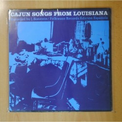 CAJUN SONGS FROM LOUSIANA - RECORDED BY I.BONSTEIN - LP