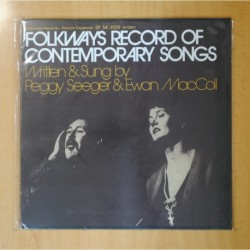 PEGGY SEEGER & EWAN MAcCOLL - FOLKWAYS RECORDS OF CONTEMPORARY SONGS - LP
