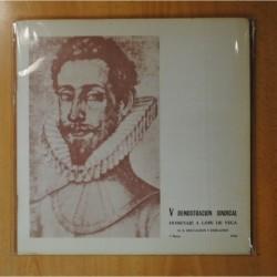 DEMOSTRACION SINDICAL - HOMENAJE A LOPE DE VEGA + LIBRETO - 2 LP