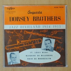 ORQUESTA DORSEY BROTHERS - JAZZ DIXIELAND 1934 1935 - ST LOUIS BLUES + 3 - EP