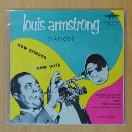 LOUIS ARMSTRONG - CLASICOS NEW ORLEANS, NEW YORK - CUANDO LOS SANTOS VAN MARCHANDO + 3 - EP