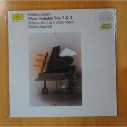 FREDERIC CHOPIN / MARTHA ARGERICH - PIANO SONATAS NOS. 2 & 3 - LP