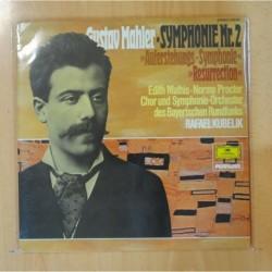 GUSTAV MAHLER / RAFAEL KUBELIK - SYMPHONIE NR. 2 EN DO MENOR RESURRECCION - GATEFOLD - 2 LP