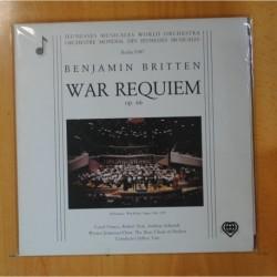 BENJAMIN BRITTEN - WAR REQUIEM - GATEFOLD - 2 LP
