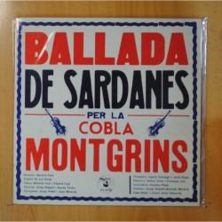 COBLA MONTGRINS - BALLADA DE SARDANES PER LA COBLA MONTGRINS - GATEFOLD - LP
