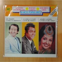 JUANITO VALDERRAMA / RAFAEL FARINA / DOLORES ABRIL - RAICES POPULARES - LP