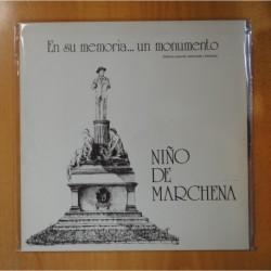 NIÑO DE MARCHENA - EN SU MEMORIA... UN MONUMENTO - GATEFOLD - LP