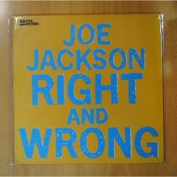 JOE JACKSON - RIGHT AND WRONG - MAXI