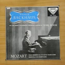 WILHELM BACKHAUS / BOHM / MOZART - PIANO CONCERTO N 27 / SONATA N 11 - LP