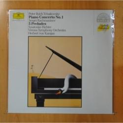 TCHAIKOVSKY - PIANO CONCERTO NO 1 / 5 PRELUDES - LP
