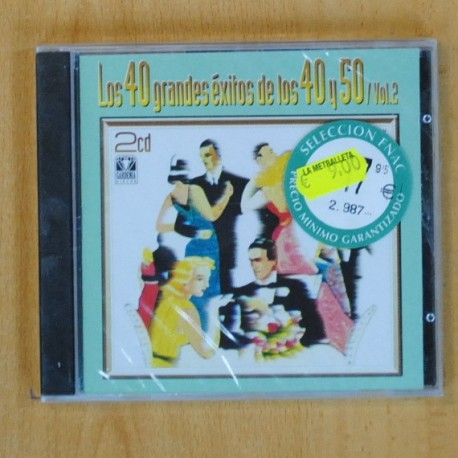 VARIOS - LOS 40 GRANDES EXITOS DE LOS 40 Y 50 VOL 2 - 2 CD