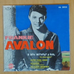 FRANKIE AVALON - A VOY WITHOUT A GIRL + 3 - EP