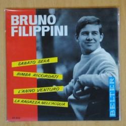 BRUNO FILIPPINI - SABATO SERA + 3 - EP