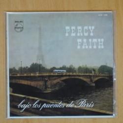 PERCY FAITH - BAJO LOS PUENSTES DE PARIS + 3 - EP