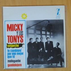 MICKY Y LOS TONYS - SOSPECHA + 3 - EP