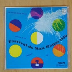 WILMA DE ANGELIS Y ARTURO TESTA - FESTIVAL SAN REMO 1959 - EP
