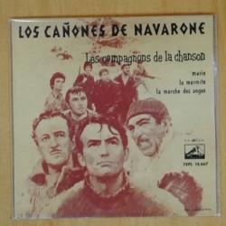 LES COMPAGNONS DE LA CHANSON - LOS CAÑONES DE NAVARONE - EP