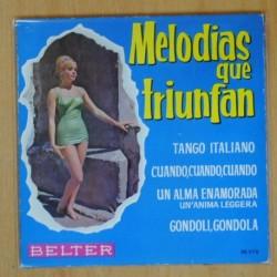 VARIOS - MELODIAS QUE TRIUNFAN TANGO ITALIANO + 3 - EP