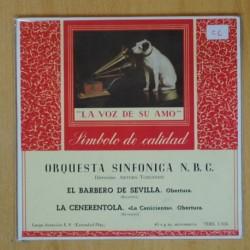 ARTURO TOSCANINI - EL BARBERO DE SEVILLA / LA CENERENTOLA - SINGLE