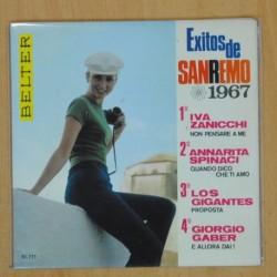 VARIOS - EXITOS DE SAN REMO 1967 - EP