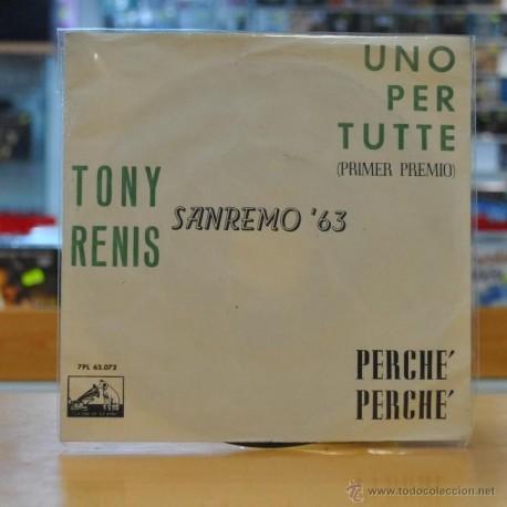 TONY RENIS - SAN REMO '63 - UNO PER TUTTE - SINGLE