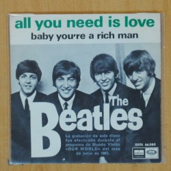 THE BEATLES - ALL YOU NEED IS LOVE / BABY YOU'RE A RICH MAN - SINGLE