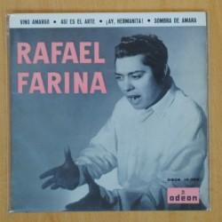 RAFAEL FARINA - VINO AMARGO + 3 - EP