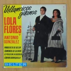 LOLA FLORES Y ANTONIO GONZALEZ - VILLANCICOS GITANOS - EP