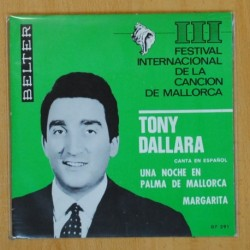 TONY DALLARA - UNA NOCHE EN PALMA DE MALLORCA / MARGARITA - SINGLE