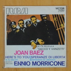 JOAN BAEZ / ENNIO MORRICONE - HERES TO YOU / SPERANZE DI LIBERTA - SINGLE