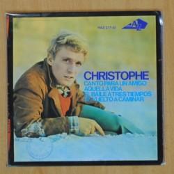 CHRISTOPHE - CANTO PARA UN AMIGO + 3 - EP