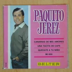 PAQUITO JEREZ - CANARIAS DE MIS AMORES + 3 - EP
