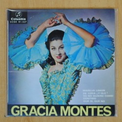 GRACIA MONTES - MARUJA LIMON + 3 - EP