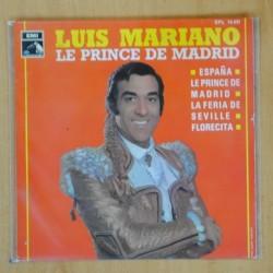 LUIS MARIANO - LE PRINCE DE MADRID + 3 - EP