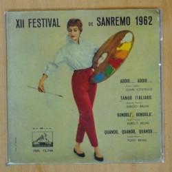 VARIOS - FESTIVAL DE SAN REMO 1962 - EP