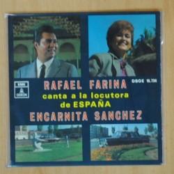 RAFAEL FARINA - CANTA A LA LOCUTORA DE ESPAÑA ENCARNITA SANCHEZ - EP