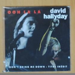 DAVID HALLYDAY - OOH LA LA - SINGLE
